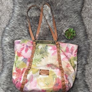 Patricia Nash Italian leather floral bag